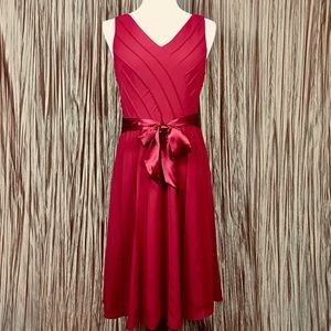 Adrianna Papell Red Empire Dress Size 8